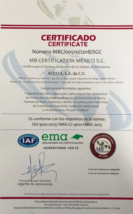 MB Certification México.